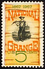 Postage stamp USA 1967 National Grange