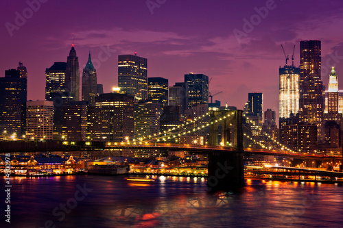 Fototapete New-York pont de Brooklyn