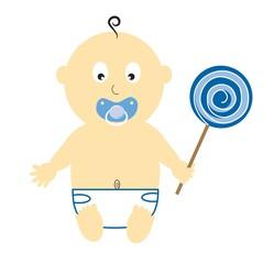 Baby Boy With Lollipop