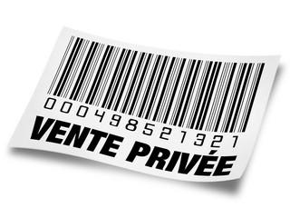 étiquette vente privée noir