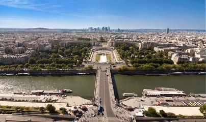 Panorama sur la Seine et le Trocadéro - Paris