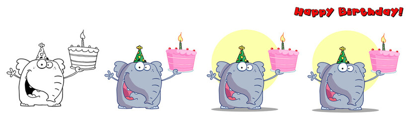 Cute Birthday Elephant