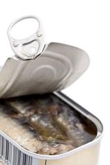 Boîte de sardines ouverte