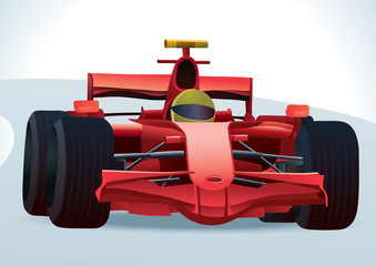 Poster Cars Red F1 Racing Car