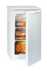 White undercounter freezer
