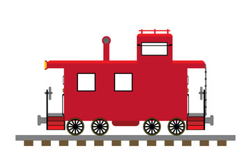 Train caboose illustration