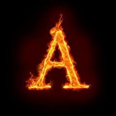fire alphabets, A