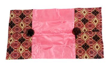 a glove box of tissues patterned batik cloth