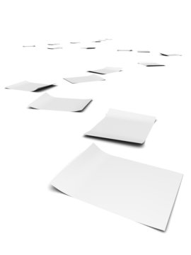 3d Winding paper trail of corruption