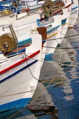 les bateaux de pêche