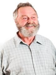 sympathischer älterer lachender Mann