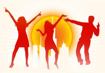 City Scene - People Dancing