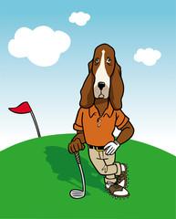 dog golfer