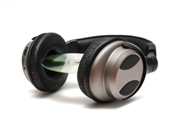 cascos de audio con disco cd