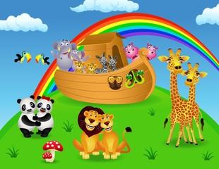 Noah ark with animals