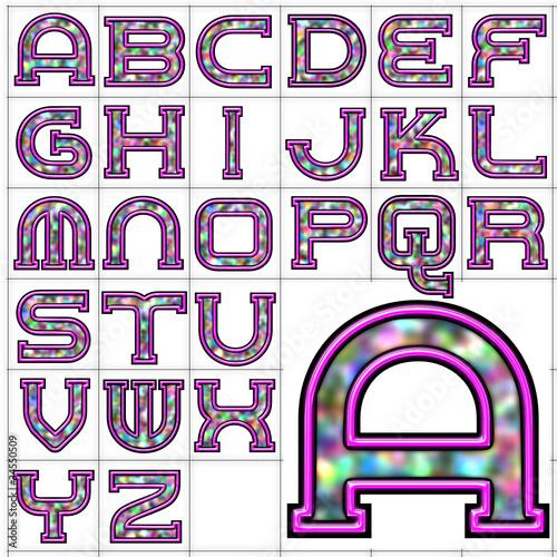 quotabc alphabet background neon rainbow designquot stock image