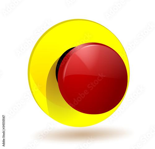 Bouton poussoir arret d 39 urgence fichier vectoriel libre de droits sur la banque d 39 images - Bouton d arret d urgence ...