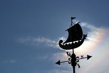 Nordic weather wane - Vikings