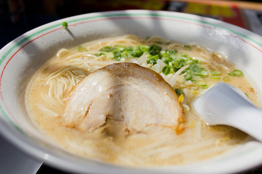 Japanese Hakata Ramen Noodles