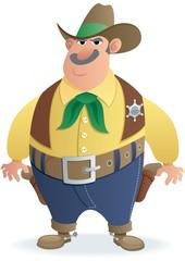 Aluminium Prints Wild West Sheriff