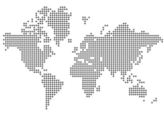 Poster Carte du monde planisphère
