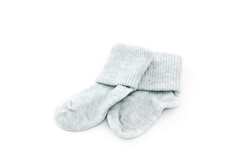 Grey baby socks