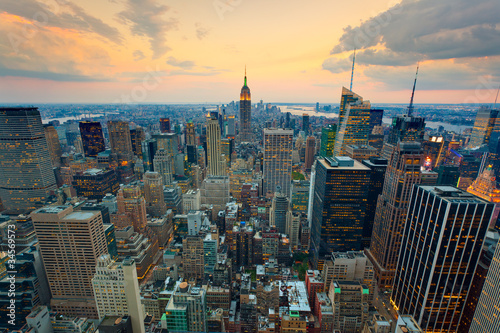 Wall mural New York Empire state building Times square