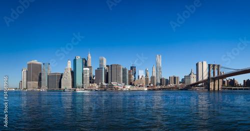 Wall mural New York Manhattan pont de Brooklyn