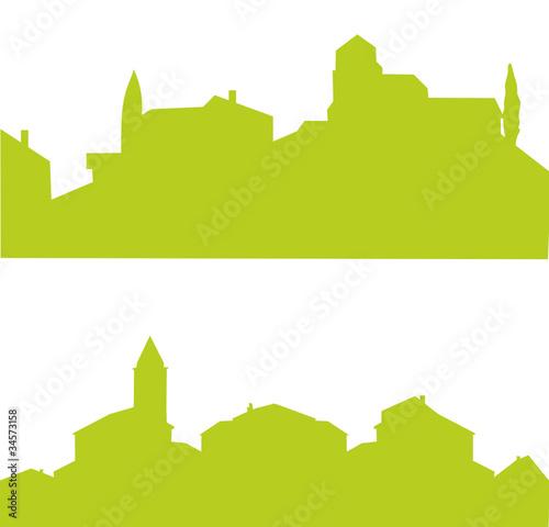 Village fran ais vert fichier vectoriel libre de droits sur la ba - Acheter un village francais ...