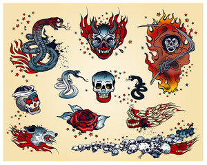 Set of traditional Tattoo's