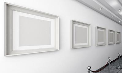 3d parete con quadri