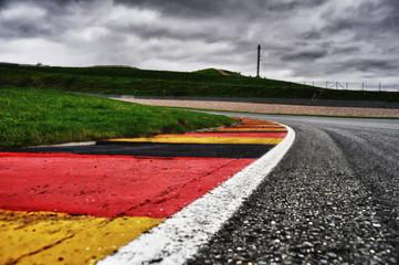 Photo sur Aluminium Motorise Sachsenring Curbs HDRI