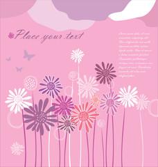floral background flower vector