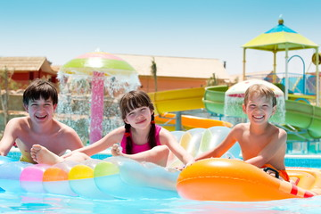 Kids at water park