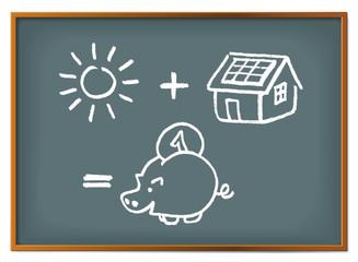 Solarförderung - Sparen Rechenaufgabe