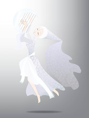 Fairy with harp