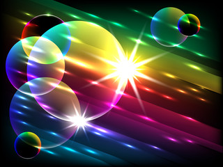 colorful bubbles, vector