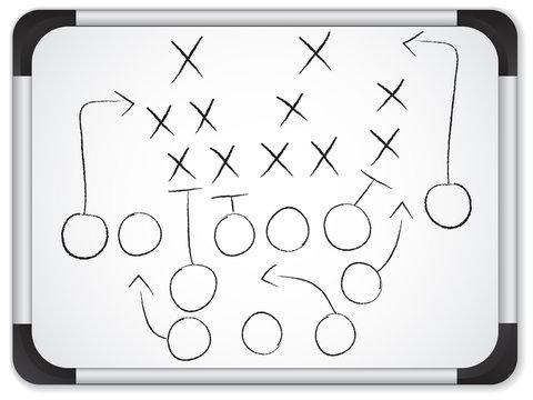 Vector - Teamwork Football Game Plan Strategy on Whiteboard