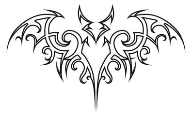 Tattoo bat.