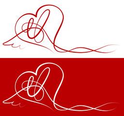 Love Cards Heart & Wings