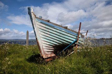 Cromaty beached boat