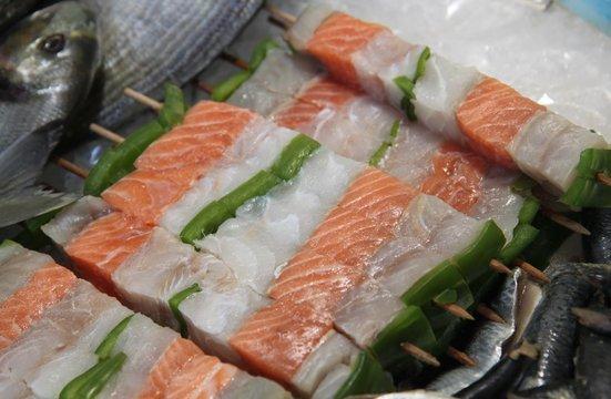 Brochettes de poissons
