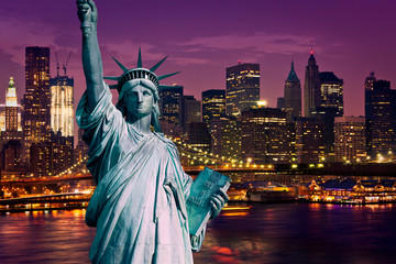 Wall Mural - New York Manhattan statue de la Liberté