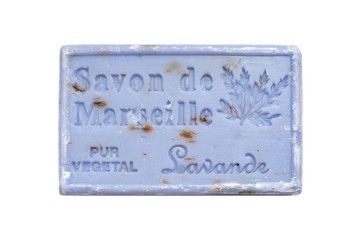 Lavender soap bar from the Marseille, Provence, France.