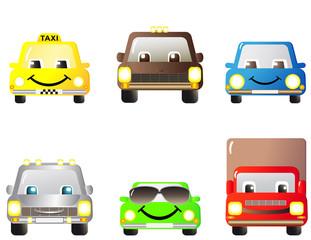 set of many cartoon cars, toys