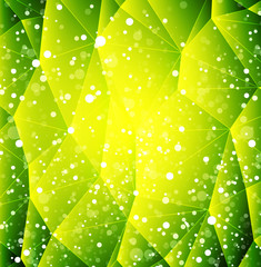 Abstract vector green shiny background