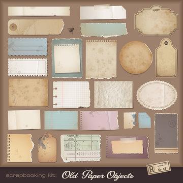 digital scrapbooking kit: aged paper