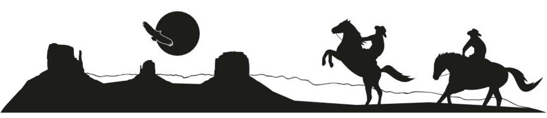 Monument Valley Cowboys Silhouette