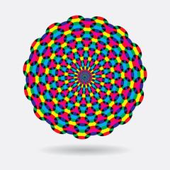 Vector abstract rainbow circles