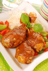 baked chicken legs with curry